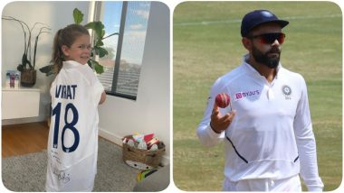 Virat Kohli Gifts Autographed Jersey to David Warner's Daughter Indi, Australian Batsman Thanks Indian Cricket Team Captain For Kind Gesture (See Pic)