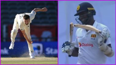 Mark Wood Breaks Angelo Mathews' Bat into Two Pieces During Day One of Sri Lanka vs England 1st Test 2021 (See Pics)