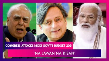 Congress Attacks Modi Govt's Budget 2021: Kapil Sibal Alleges 'Big Projects For Poll-Bound States', Shashi Tharoor Says, 'Contribution Of This Budget Is 'Na Jawan Na Kisan'