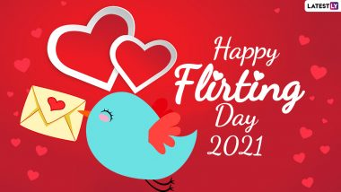 Flirting Day 2021 Messages, HD Wallpapers & Quotes: Share GIFs,  Facebook Images, Telegram Messages & WhatsApp Stickers During Anti-Valentine Week