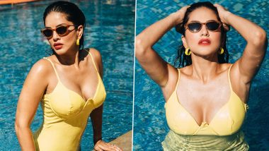 Sunny Leone Is Our 'Monday Distraction' As She Enjoys a Sunny Day in a Yellow Monokini (View Pics)