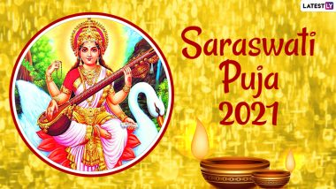 Saraswati Puja 2021 Greetings in Bengali: WhatsApp Messages, SMS, HD Images, GIFs and Quotes to Wish Happy Basant Panchami