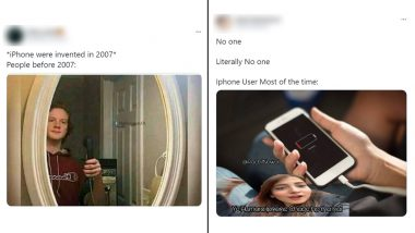 iPhone Funny Memes and Jokes Take over Twitter! From 'Pawri Hori Hai' Twist to Mirror Selfie with Apple Phones, Hilarious Posts That Will Make Your Day