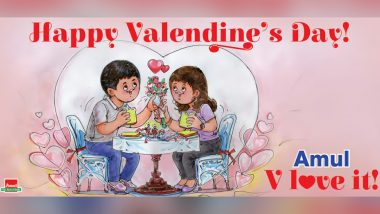 'V Love It' Amul Dedicates Latest Topical Ad to Valentine's Day 2021, Adorable Doodle Shows Animated Couple Enjoying 'Utterly Butterly' Valentine Date (See Pic)