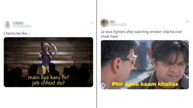 'Einstein Chacha' Funny Memes & Jokes Are Raw Gold! Desi Tweeple Can't Stop Making Hilarious Reactions of the Multi-Coloured Hair Elderly Man From Video of Chaat Sellers' Fight in UP