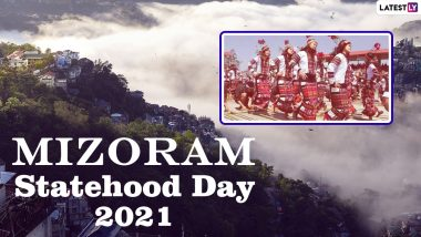 Mizoram Statehood Day 2021 Wishes & HD Images: Facebook Greetings, Telegram Messages, WhatsApp Stickers, Quotes & Mizoram Pics to Celebrate 35TH Statehood Day of This North Eastern State