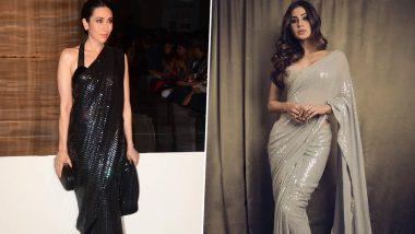 Fashion Faceoff: Mouni Roy or Karisma Kapoor, Who Nailed This Monochrome Sequined Saree By Manish Malhotra Better?