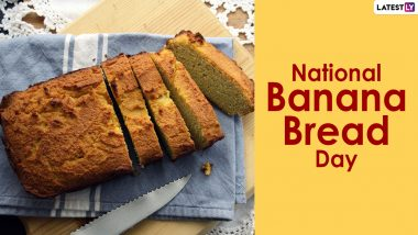 National Banana Bread Day 2021 in US: From Dark Chocolate Banana Bread to Coffee Infused Banana Bread, Here Are 5 Yummiest Recipes of This Sweet Delicacy