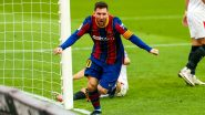 Lionel Messi Reacts After Leading Barcelona To 2-0 Triumph Over Sevilla in La Liga 2020-21 (View Post)