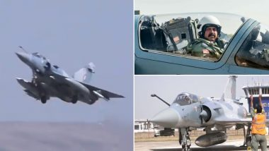 Balakot Airstrikes 2nd Anniversary: IAF Chief RKS Bhadauria Takes Multi-Aircraft Sortie (Watch Video)