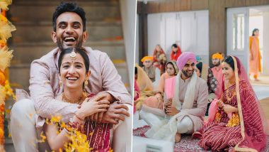 Jayant Yadav Marries Girlfriend Disha Chawla, Indian All-Rounder Shares Wedding Pictures on Social Media (See Post)