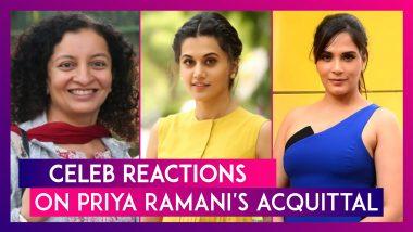 Celeb Reactions On Priya Ramani's Acquittal In MJ Akbar's Defamation Case: Taapsee Pannu, Richa Chadha, Swara Bhasker & Others Laud The Judgement
