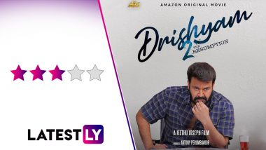 Drishyam 2 Movie Review: Mohanlal's Sequel to His Blockbuster Family Thriller Is Loaded With Pulpy Surprises (LatestLY Exclusive)