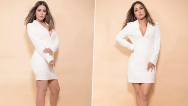 Yo or Hell No? Hina Khan's White Bodycon Dress By Lavish Alice