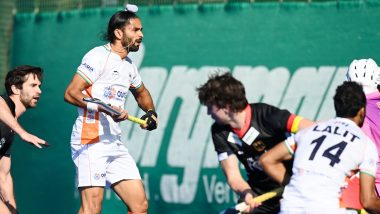 Indian Men's Hockey Team Thrash Germany 6-1 After Returning to International Action Following a Year-Long Break