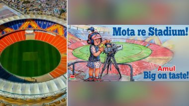 Mota re Stadium! Amul Comes Up With Topical Before India Host England At Motera Stadium in Ahmedabad
