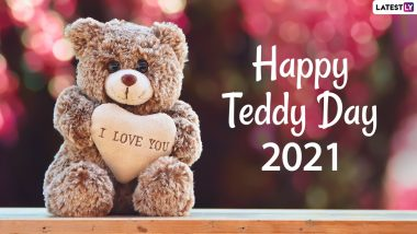 Teddy Day 2021 Images and HD Wallpapers For Free Download Online: WhatsApp Stickers, Signal Messages and Facebook Greetings to Share Valentine Week Wishes