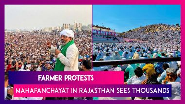 Farmer Protests: Mahapanchayat In Rajasthan Sees Thousands As Rakesh Tikait Addresses The Crowd