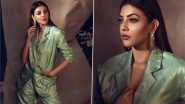 Yo or Hell No? Kajal Aggarwal's Powder Green Pantsuit By Ekaya