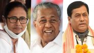 IANS C Voter Opinion Polls For Assembly Elections 2021: Seat & Vote Share Projections in Bengal, Assam, Tamil Nadu, Kerala & Puducherry; Mamata Banerjee, Pinarayi Vijayan Favoured as CM