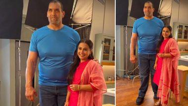 Vidya Balan Meets WWE Superstar The Great Khali, Says 'Finally, the Big Girl Looks Small'