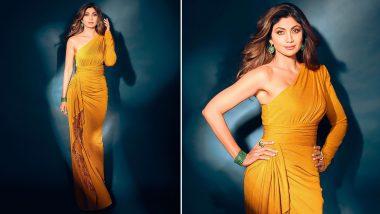 Yo or Hell No? Shilpa Shetty's Yellow Shimmery Gown By Neetu Rohra