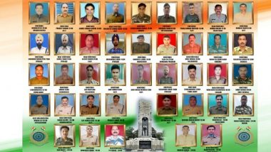 Pulwama Terror Attack: India Remembers 40 CRPF Jawans Who Were Martyred on February 14, 2019 in JeM Strike; Here Is The Complete List of Bravehearts
