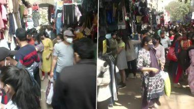 COVID-19 in Delhi: Social Distancing Norms Violated in Sarojini Nagar Market (Pics)