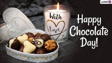 Happy Chocolate Day 2021 Wishes and HD Images: WhatsApp Stickers, Chocolate Photos, Telegram Messages, Signal Quotes and Romantic Facebook GIFs to Send to Your Bae