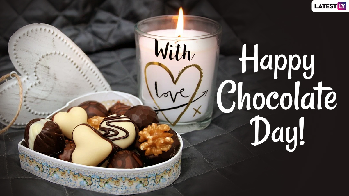 Happy Chocolate Day 2021 Wishes And Hd Images Whatsapp Stickers Chocolate Photos Telegram Messages Signal Quotes And Romantic Facebook Gifs To Send To Your Bae Latestly Gif whatsapp happy chocolate day 2021