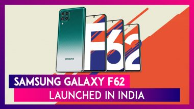 Samsung Galaxy F62 with 64MP Quad Rear Camera Setup Launched in India; Check Prices, Features, Variants & Specifications