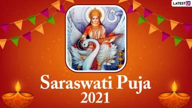 Basant Panchami 2021 Messages in Hindi & HD Images: Send Saraswati Puja Quotes, WhatsApp Stickers, Telegram Greetings, Vasant Panchami Pics and GIFs to Wish on the Day