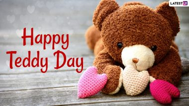 Happy Teddy Day 2021 Wishes and Cuddle Quotes: Cute Teddy Bear HD Images, WhatsApp Stickers, Signal Messages, Telegram Greetings and Facebook GIFs for Your Lover to Celebrate Valentine Week