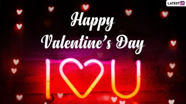 Happy Valentine's Day 2021 Messages and WhatsApp Stickers: V-Day Wishes, Love Quotes, Facebook Greetings, Telegram HD Images and Signal GIFs For Your Lover