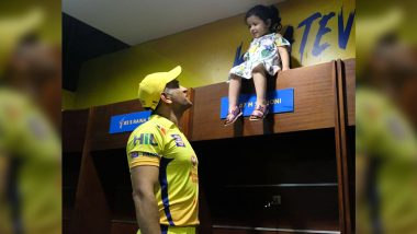 Chennai Super Kings Share Adorable Photo of MS Dhoni and Ziva to Wish Skipper's Daughter on Her Sixth Birthday (See Post)
