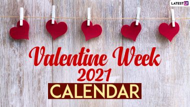 Valentine Week 2021 Date Sheet: From Rose Day To Kiss Day, Here's Full Schedule of Love Week