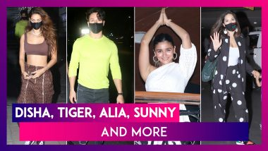 Disha Patani & Tiger Shroff's Date Night, Alia Bhatt's Gangubai Kathiawadi Style Namaste At Sanjay Leela Bhansali's Birthday & Sunny Leone At The Airport