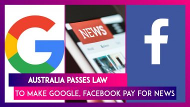 Australia Passes News Media Bargaining Code Bill - World's First Landmark Law Requiring Google, Facebook To Pay For News