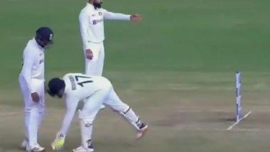 Annoyed Virat Kohli Complains to Umpire Nitin Menon About England Batsmen Running on Pitch in Chennai Test (Watch Video)