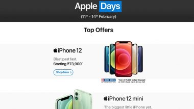 Apple Days Sale 2021: Big Discounts on iPhone 12 Mini, iPhone 11, Watch Series 3, iPad & More on Flipkart