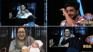 Bigg Boss 14: Aly Goni Gets Emotional After Seeing His Mother and Niece Via Video Call (Watch Video)