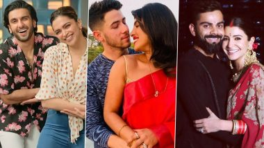 Valentine's Day 2021: Deepika Padukone-Ranveer Singh, Priyanka Chopra-Nick Jonas, Anushka Sharma-Virat Kohli – Here's Looking at Tinsel Town's Most Adorable Couples!