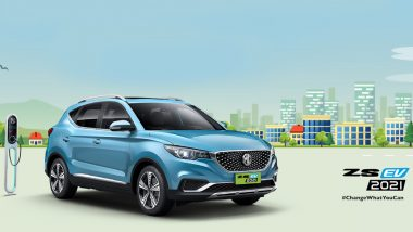 2021 MG ZS EV to Be Unveiled Today in India, Watch LIVE Streaming Here