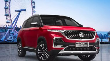 2021 MG Hector Petrol CVT Launched in India; Priced at Rs 16.51 Lakh