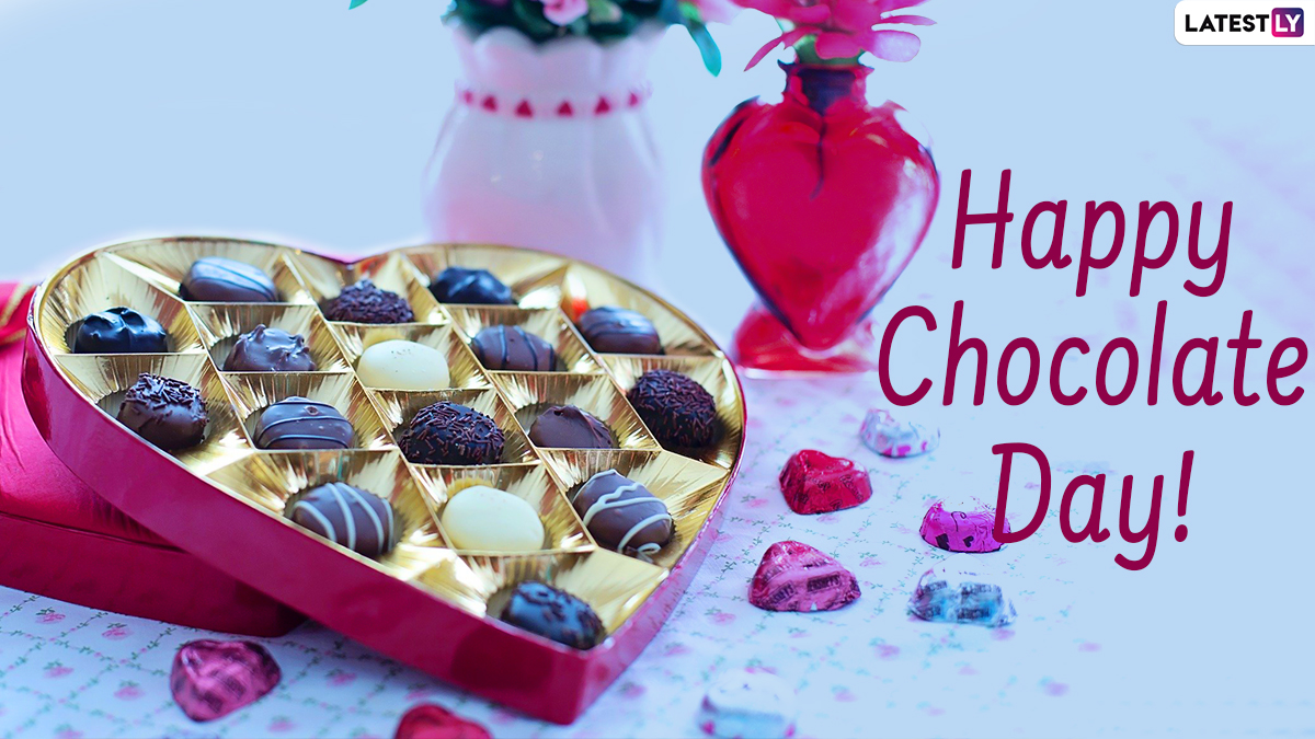 Chocolate Day 2021 Hd Images Wishes Facebook Greetings Gif Messages Sms Whatsapp Stickers To Celebrate Third Day Of The Valentine Week Latestly Gif whatsapp happy chocolate day 2021