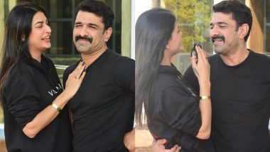 Bigg Boss 14 Couple Eijaz Khan and Pavitra Punia's Chemistry in Their First Public Appearance Is Wow (View Pics)