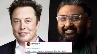 Elon Musk Calls Himself an 'Alien' as Kunal Shah Adresses Him as 'Dark Lord'! Check out the Hilarious Tweet Exchange and Reactions
