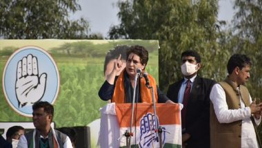 Priyanka Gandhi Vadra Addresses Kisan Mahapanchayat in Saharanpur, Says 'Congress Will Repeal Farm Laws When Back in Power'