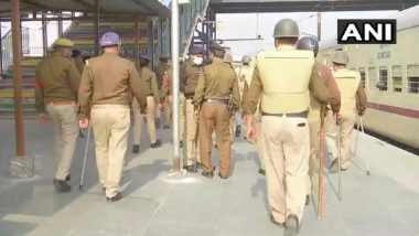 Rail Roko Protest: Delhi Police Steps Up Security Near Railway Tracks in View of Rail Blockade Called by Farmers