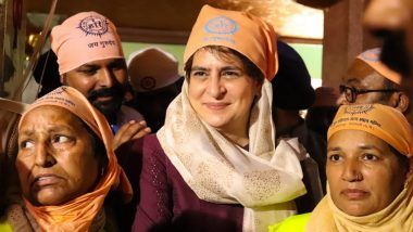 Guru Ravidas Jayanti 2021: Priyanka Gandhi Visits Ravidas Temple in Varanasi